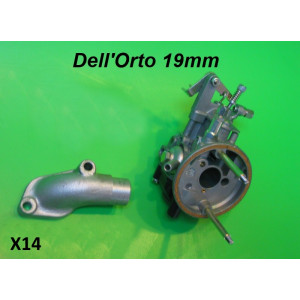 Complete Dell'Orto SHB 19mm carb kit + manifold (for 'X1' Casa 75cc cylinder kit)