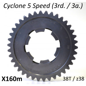 38T 3rd gear cog for Cyclone 5 Speed gearbox
