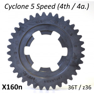 36T 4th gear cog for Cyclone 5 Speed gearbox
