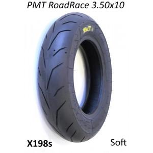 """PMT Road / Race 3.50 x 10"""" tyre (soft compound) for Lambretta + Vespa."""