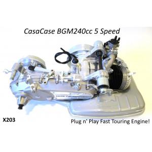Complete BGM RT 240cc 5 Speed engine for Lambretta S1 + S2 + TV2 + S3 + TV3 + Special + SX + DL + Serveta