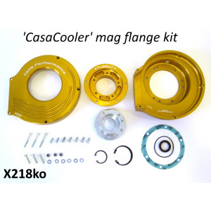 Complete CasaCooler gold CNC mag flange kit for original Lambretta engines