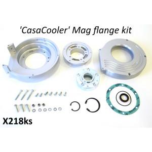 Complete CasaCooler silver CNC mag flange kit for original Lambretta engines