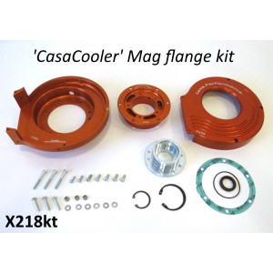 Complete CasaCooler orange CNC mag flange kit for original Lambretta engines