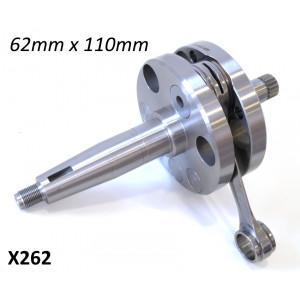 62mm x 110mm race quality race complete crankshaft for original type Lambretta engine casings