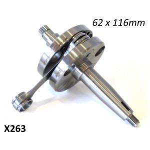 62mm x 116mm race quality race complete crankshaft for original type Lambretta engine casings