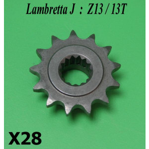 13T front sprocket for Lambretta J50 + Lui 50 models (+ tuning)