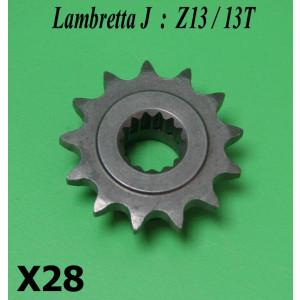 13T front sprocket for Lambretta J50 + Lui 50 models (+ tuning)