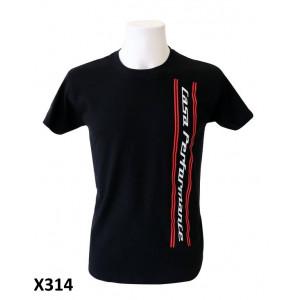 Mens black 'Casa Performance' T-shirt with vertical CP logo