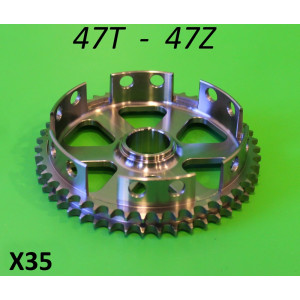 Lightened 47T clutch sprocket Lambretta S1 + S2 + S3 + GP DL + Serveta