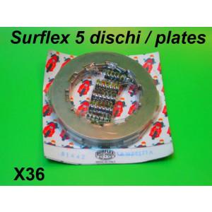 Surflex 5 plate clutch set + uprated springs Lambretta S1 S2 S3 GP DL Serveta