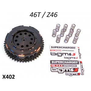 Clutch BGM PRO Superstrong - 46t - 10 springs + 6 plate - Lambretta S1 + S2 + S3 + SX + DL / GP