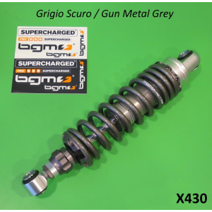Ammortizzatore posteriore BGM ('grigio fucile') per Lambretta S1 + S2 + S3 + GP DL + Serveta