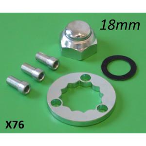 Complete 18mm nut + super-safe lockwasher kit for X75 rear axle layshaft
