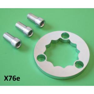 Super-safe extra thick rear hub nut locking ring kit + THREE allen screws for ALL Lambrettas!