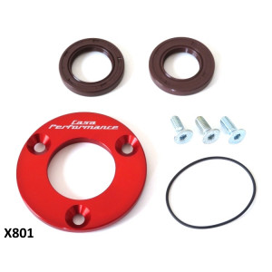CNC drive side oilseal plate with 'O' ring + Viton oilseal for Lambretta J + Lui Vega Cometa