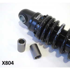 Pair of reduction bushes to convert S3 BGM rear shock absorber for Lambretta Lui Vega Cometa