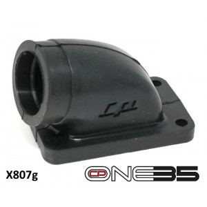 24 / 25mm rubber inlet manifold for 'CP One35' conversion kit for Lambretta J Range + Luna Line
