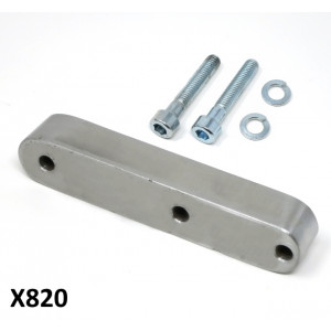 Chain guide spacer for converting 3 speed Lambretta J + Luna Line engines to 4 or 5 speed