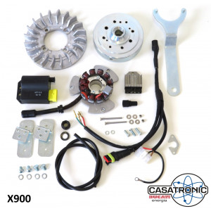 Complete Casatronic Ducati 12V electronic ignition kit for SMALL CONE crankshafts