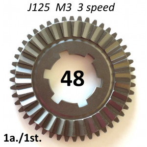 48T tooth 1st. gear cog for Lambretta J125 M3 (3 speed)