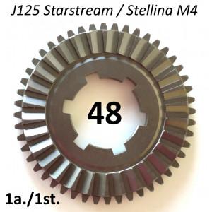 48T 1st gear cog for Lambretta J125 M4 Starstream 4 speed models