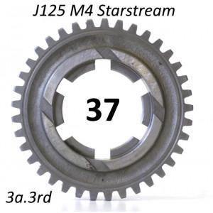 37T 3rd gear cog for Lambretta J125 M4 Starstream 4 speed models
