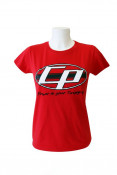 SPECIAL OFFER! Ladies red 'Casa Performance' T-shirt with the oval CP logo