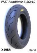 """PMT Road / Race 3.50 x 10"""" tyre (hard compound) for Lambretta + Vespa"""