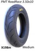 """PMT Road / Race 3.50 x 10"""" tyre (medium compound) for Lambretta + Vespa."""