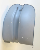 Metal legshield for Lambretta Special + SX (i.e. NON - chrome ring models)