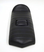 Special low profile seat for fibreglass rear bodywork section X107. Black with blue stitching.