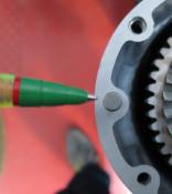 Sidecasing + gearbox endplate dowel Lambretta S1 + S2 + S3 + SX + DL / GP + J + Lui
