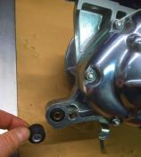 NEW ITEM! Lower rubber silentblck bush (in engine) for rear suspension unit for  Lambretta J
