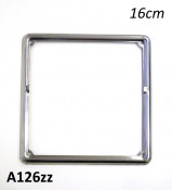 Chrome number plate surround (for the new bigger European / Italian number plates)