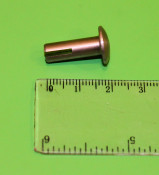 Special pin for rear butty box hinged door