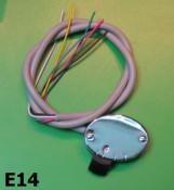 2 position black base light switch for Lambretta C + LC + D + LD 1952