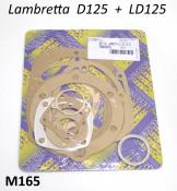 Complete engine gasket set Lambretta D + LD 125cc
