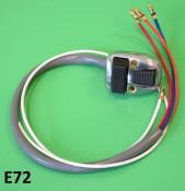 Headlamp & horn dip switch black buttons