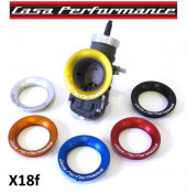 Casa Performance CNC carburettor induction collar for large bore carburettors (Dell'Orto, Mikuni, Kehin) GOLD