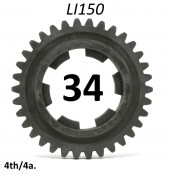 34T 4th gear cog for Lambretta LI150