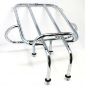 Horizontal chrome rear carrier accessory for Lambretta LD '53 + LD Francia