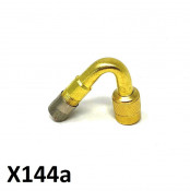 U shaped valve adaptor for wheel inflation with a Casa Performance double front disc
