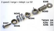 Splined top cap washer for front cush drive sprocket assembly Lambretta Cento + J 125 + Starstream