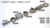 Sliding collar for front cush drive sprocket assembly Lambretta Cento + J 125 M3 + M4