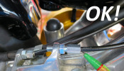 Set of extended neck adjusters for control cables Lambretta S1 + S2 + TV2 + S3 + TV3 + Special + SX + DL + Serveta. Zinc plated