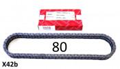 IWIS chain - 80 link - Lambretta S1 + S2 + TV2 + S3 + Special  + TV3 + SX + GP + Serveta