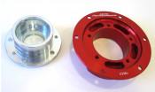Complete CasaCooler red CNC mag flange kit for original Lambretta engines