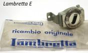 Original NOS Innocenti front badge + mounting bracket Lambretta E125 (Vers.1)