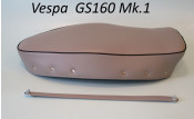 High quality grey seat cover + passenger handle for Vespa GS160 Mk.1